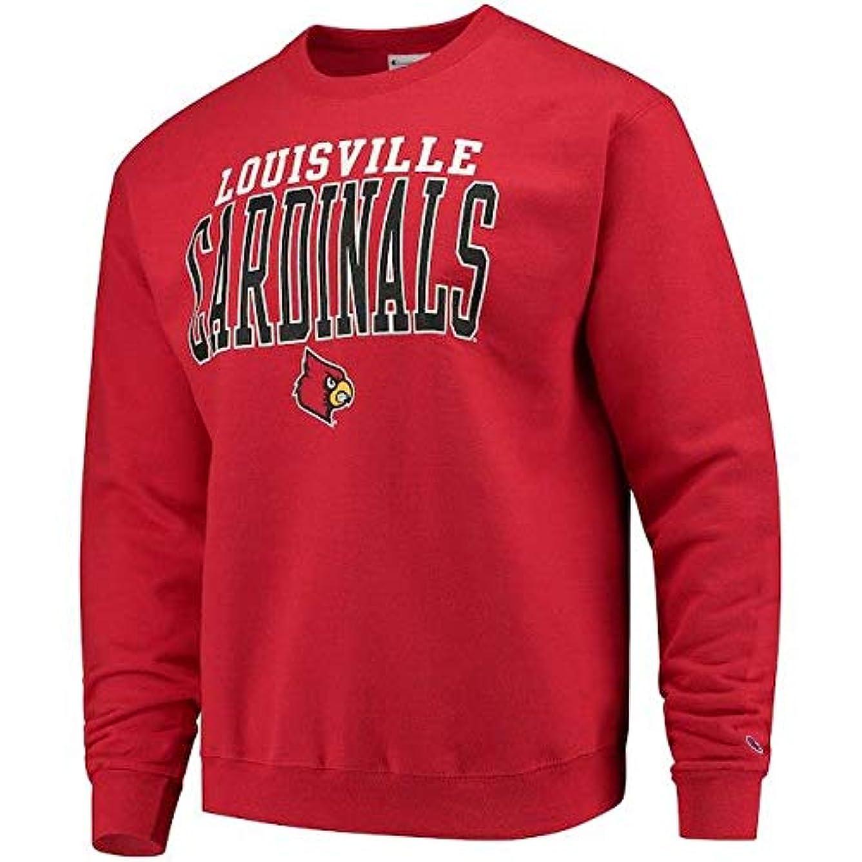 チャーム提供する発掘するChampion Champion Louisville Cardinals Red Core Powerblend Crewneck Sweatshirt スポーツ用品 【並行輸入品】