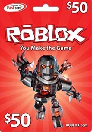 Amazoncom Roblox Roblox 50 Game Card Video Games