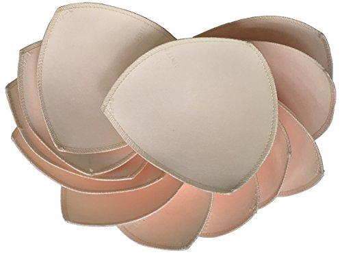 Fengyuan Paquete de 6 Pares de Almohadillas para Sujetador Deportivo o Bikini Tops de 5X5 Pulgadas (Beige)
