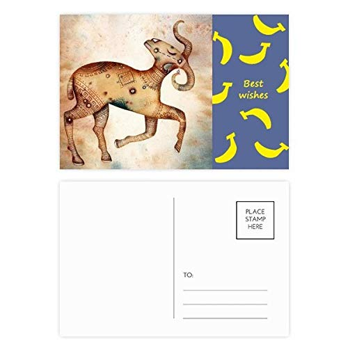 DIYthinker maart april Ram sterrenbeeld Zodiac Banaan Postkaart Set Thanks Card Mailing Side 20 stks 5.7 inch x 3.8 inch Multi kleuren