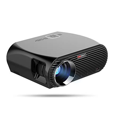 Videoproiettore Videoproiettore da 3200 Lumen per Android 6.0.1 WiFi Bluetooth Home Theater Proiettore 1080P Film HD,Nero