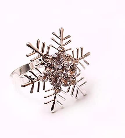 TBSTBS Year-end gift Christmas Outlet sale feature Series Snowflake Pine Cloth Ring Napkin Buckle