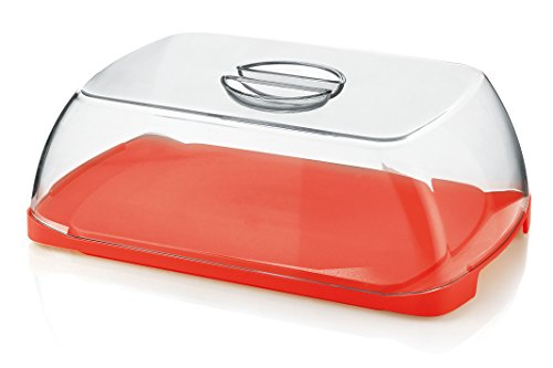 Guzzini Forme Casa 138750-31 Portaformaggio, Plastica, Rosso