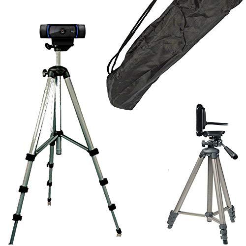 TronicXL Tripod 21W Stativ für Webcam kompatibel mit Logitech C920 Brio 4K C925e C922x C922 C930e C930 C615 Kamera Microsoft Studio Live Aukey Zoom Call Home-Office Zubehör Ständer Konferenz Video