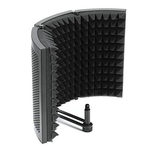 Winbang Scudo Acustico, Camera Acustica Trattamento Ad Alta Densità Schiuma Assorbente Microfono Pieghevole Isolante per Studio Professionale e da Casa (A)