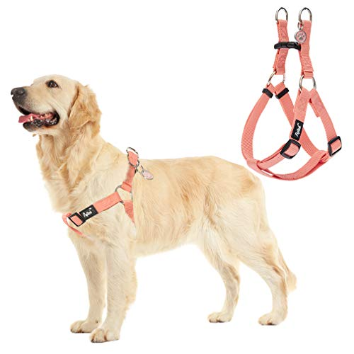 No Pull Dog Harness Reflective Adjustable Basic Nylon Step in Puppy Vest Outdoor Walking with ID Tag