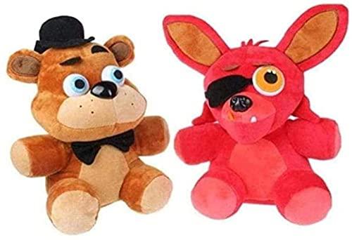 NC87 Juego de muñecos de Peluche de Dos PiezasCada 25cm Freddy 10 Freddy s Cunning Fox y Freddy Bear Traje para niños