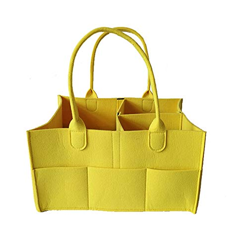 Xiton 1PC Baby-Windel-Caddy Organizer Portable Windel-Halter-Beutel Nursery Essentials-Lagerplätze Baby Shower Geschenke Für Neugeborene Und Mutter (Gelb)