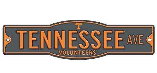 "WinCraft Tennessee Volunteers 4"" x 17"" Plastic Street Sign NCAA Vol Grey"