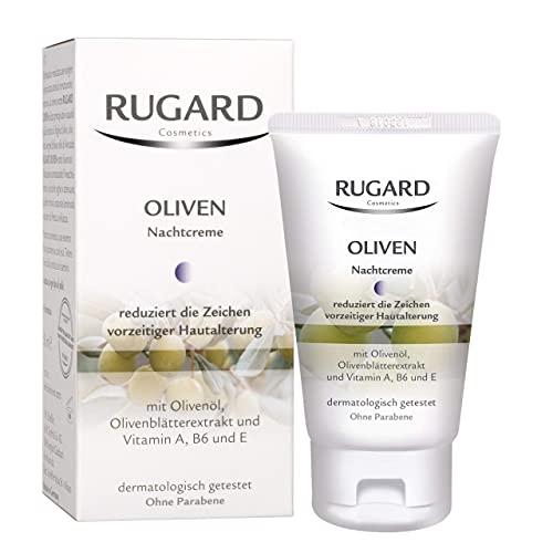 RUGARD Oliven Nachtcreme: Gesichtspflege mit Inhaltsstoffen aud der Olive und Rosenblüte sowie Vitamin A, B6 und E, 50ml