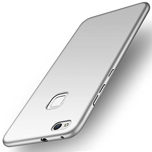 Funda Huawei P10 lite, ORNARTO HW P10 lite Carcasa [Ultra-Delgado] [Ligera] Mate Anti-arañazos y Antideslizante Alta Calidad Protectora Sedoso Caso para HUAWEI P10 lite(2017) Plateada