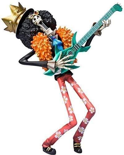 XIAOGING One Piece Brook Alma Rey Animado Figura 19 CM-Figurita Decoracion Adornos coleccionables animaciones de Personajes de Juguete Modelo