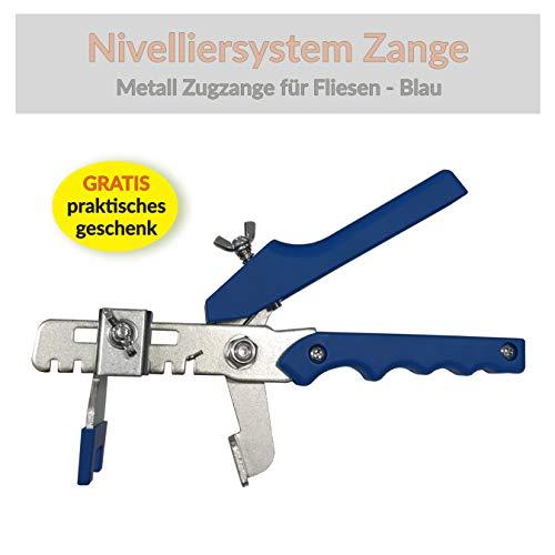 Nivelliersystem Fliesen Zange Levello - Verlegehilfe für Fliesen, Zugzange für lasche keil system (Blau Zange)