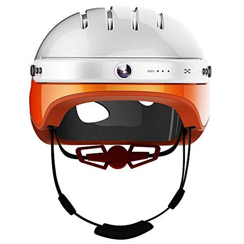 AIRWHEEL Casco inteligente C5 con cámara frontal y altavoz Bluetooth