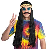 Hippie Dude Wig with Headband Costume Accessory