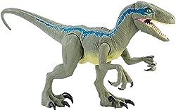 "1. Jurassic World Super Colossal 18"" Velociraptor Blue"