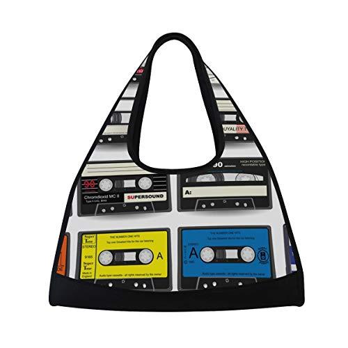 FANTAZIO Bolsa de Deporte de Lona para casetes de Audio