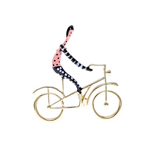 Broches de bicicleta de paseo esmaltados para mujer Joyería de diseño creativo de moda