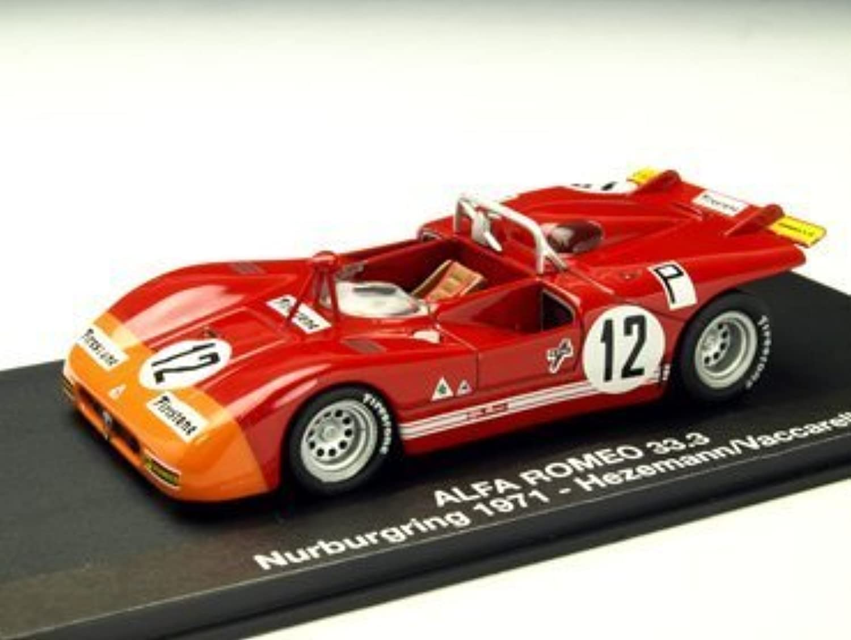 auténtico 1 43 43 43 Alfa Romeo 33.3 71 Nurburgring   12 Hezemann   VacCocheell (japan import)  Más asequible