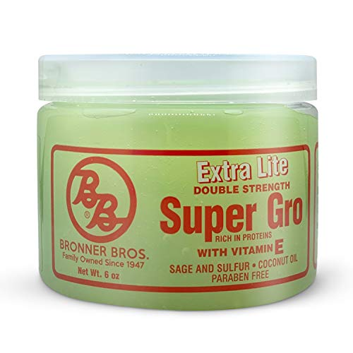 BB Super Gro Double Strength Hair Growth Formula Organic Hair Regrowth with Keratin, Sage, Sulfur, Coconut Oil and Sesame Seed Oil 6 oz