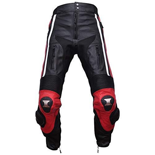 COMPILO Pantalón de cuero para moto CM-1007 (M(50))