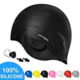 Swim Cap Arteesol Silicone Swimming Caps Waterproof Swimming Hats Bathing Cap with Ear
