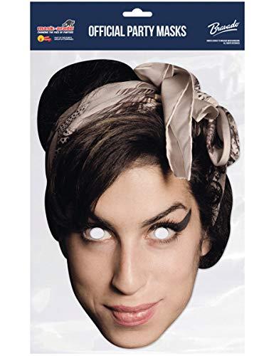 COOLMP  Juego de 3 mscaras de cartn, de Amy Winehouse  Talla nica  Mscara de fiesta, accesorio de disfraz, carnaval, cumpleaos, tema, lobo, pasamontaas
