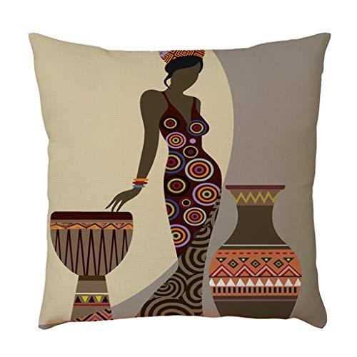Housse de coussin femme lin taie d'oreiller taie d'oreiller housse de coussin canapé Home Car Decor décoration de la maison taie d'oreiller