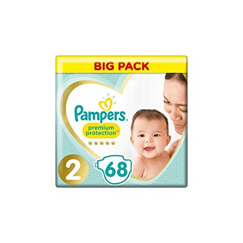 Pampers – PAMPERS New Baby Talla 2-3 A 6 kg – 68 pañales – Formato Jumbo pack