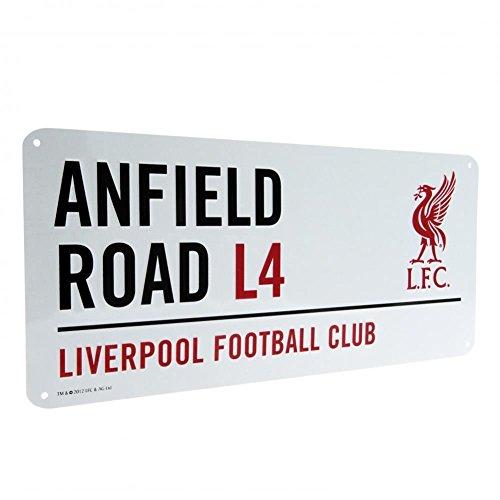 Liverpool Offizielles Anfield Road L4 Metall-Straßenschild – Mehrfarbig