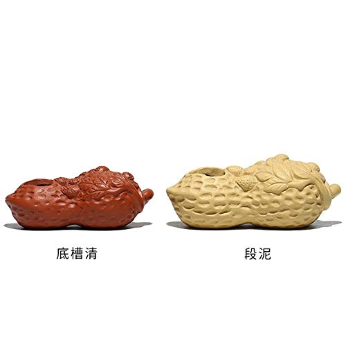 HuiLai Zhang Pindakaas Paars Thee huisdier kan handmatig worden verhoogd Grote segmenten Klei huisdier Paars Thee Ornamenten Off voorkomen True Green (Maat: Bottom Trough Clear (Rood))