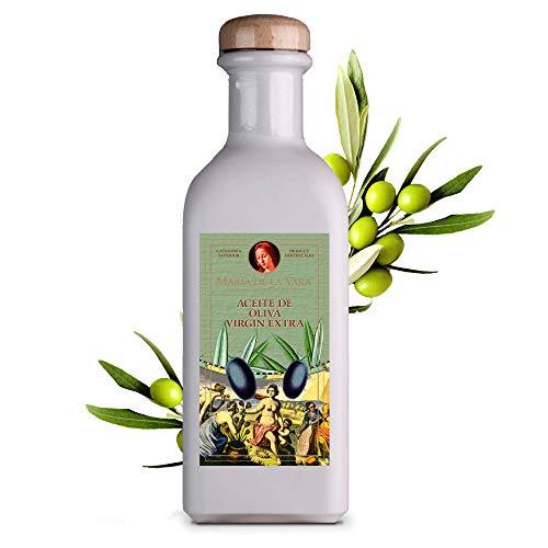 Maria de la Vara Olivenöl Virgin Extra – erste Güteklasse 0,5L I Natives Olivenöl Extra Vergine I Kaltgepresstes Olivenöl zum Braten & für mediterrane Küche I Aceite de Oliva – Made in Spain