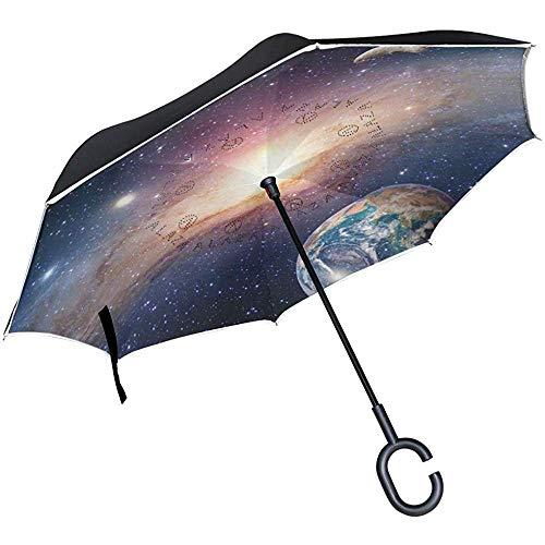 ETGeed Paraguas inverso Astrología Astronomía Paraguas invertido Tierra Reversible