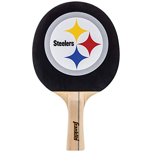 Franklin Sports Pittsburgh Steelers Table Tennis Paddle - NFL Team Table Tennis Paddles - Official Team Logos and Colors - Fun NFL Game Room Accessories