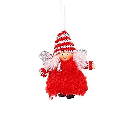 Yestter Engel aus Spitze aus Plüsch, Weihnachtsdekoration mit Flügeln, innovativ, Plüsch, Weihnachtsdekoration, Anhänger