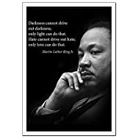 Young N Refined Martin Luther King Jr. Poster Famous Inspirational Quote Large Banner Darkness Cannot Drive Out Darkness only Light can do That for Educating Civil Rights Activism classrooms P 18x24 [並行輸入品]