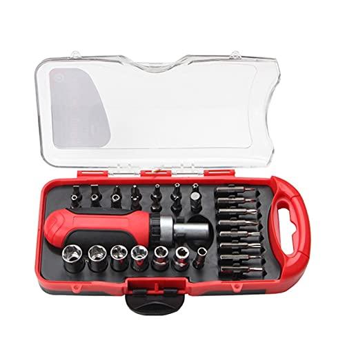 Lixiaonmkop 38 stücke Ratsche Schraubenschlüssel Set Sockel Schraubenschlüssel Schraube Bits Set Werkzeuge Kit Bike Wartung Reparatur Handwerkzeug (Color : 30pcs)