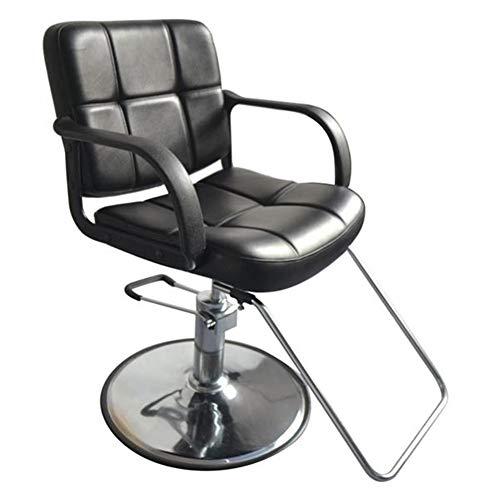 GRASSAIR Silla de barbero Mujer, Silla de peluquería SPA Salon Equipo de Belleza Altura Ajustable de 150 kg de Capacidad