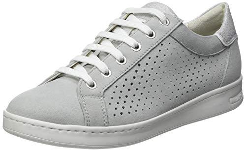 Geox D Jaysen B, Zapatillas Mujer, Blanco/Azul, 35 EU