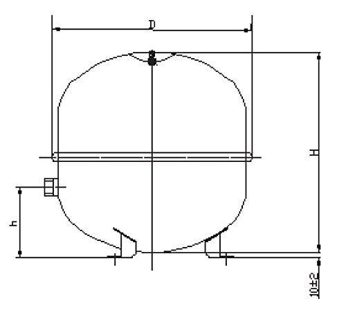 Membran Ausdehnungsgefäß Zilflex 35 Liter