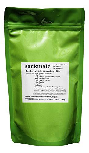 Backmalz 200g - aus Gerste, enzymaktiv - mind. 9 Monate MHD