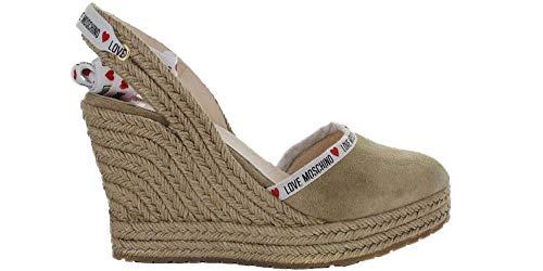 Love Moschino Sandales pour femme Beige JA1027AI07JF0105 - Beige - beige, 37 EU