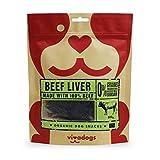 Vivadogs - 100% Carne de Ternera Natural Secado al Aire (hígado) - 100g - Chuches para Perros - Snacks para Perros - Premios para Perros - Golosinas para Perros - Huesos para Perros