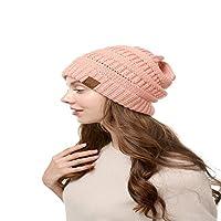 ケーブルニットビーニーハット断熱ハットワイヤレスニットビーニーソフトウォームウィンターハットニットカフ付き女性用帽子