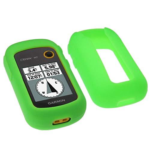 foto-kontor Funda para Garmin eTrex 20x 22x 32x Protectora Silicona Carcasa protección Verde