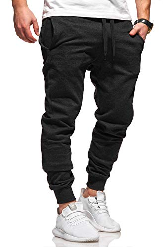 Ombre-Eight Herren Jogginghose Trainingshose Sporthose T-410 [Schwarz, L]