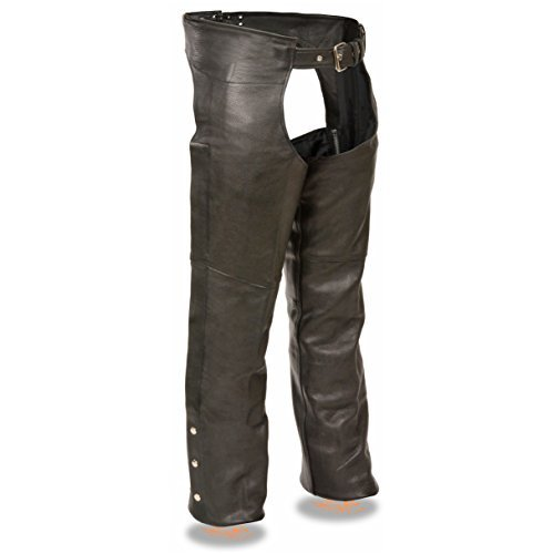 Milwaukee Men s Basic Coin Pocket Leather Chaps (Black e1b46dc26