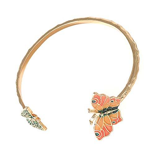 ZRSYH Pulsera para mujer con diseño de mariposa, color abierto, para mujer, regalo de cumpleaños, pulsera de mariposa