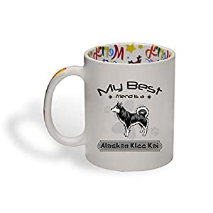 Ceramic Christmas Coffee Mug My Best Friend Is Alaskan Klee Kai Dog Funny Tea Cup 38