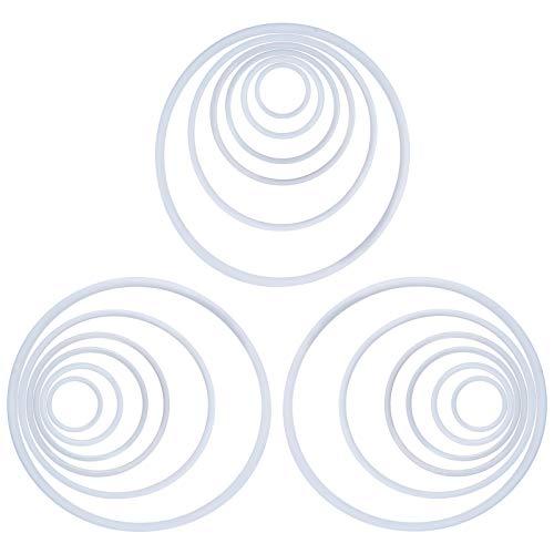 NBEADS 30 Cerchio Rotondo Dreamcatcher, 6 Cerchio di Avvolgimento di Anelli di Plastica di Diverse Dimensioni, Anello Circolare in Plastica per Artigianato in Vimini Fatto A Mano Manuale Fai-da-Te